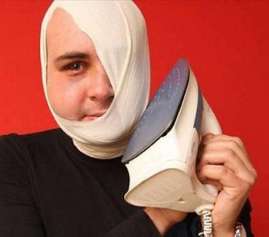 Tomasz Paczkowski burns half his face