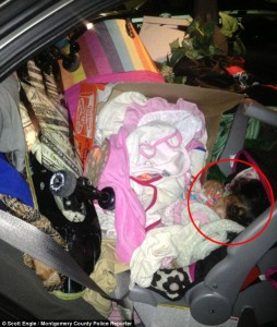 8-Month Baby Buried in Backseat