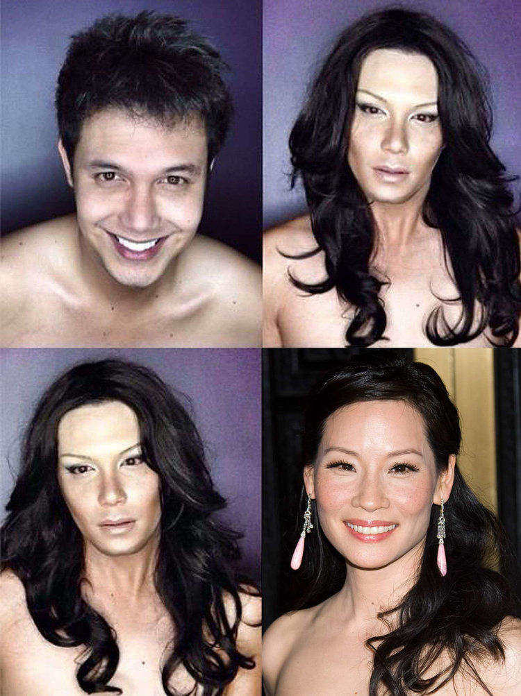 Paollo as Lucy Liu